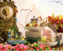DIY Creative Crystal Ball Gift Romantic Doll House Furniture Miniaturas Puzzle Dollhouse For Child Birthday Gifts