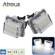 Atreus LED License Plate Light Mercedes W204 5D W212 W216 W221 C207 Benz AMG Accessories White SMD Car LED number plate lamp