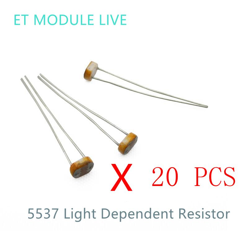 20PCS x 5537 Light Dependent Resistor LDR 5MM Photoresistor wholesale and retail Photoconductive resistance for arduino<br><br>Aliexpress