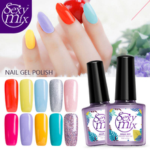 Sexy Mix 9ML Semi Permanent UV Nail Gel Polish Red Color Nail Gel Paint 2017 Lucky Color Special Gel Polish for French Manicure