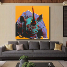 HDARTISAN Black Rhino Print Wall Art Decoration oil Painting Wall Painting Picture Posters and Advertisements(China)