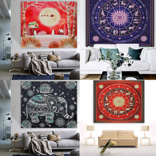 Christmas Mandala tapestry Hippie Square Tapestries Wrap shawl Hanging Wall Throw beach towel blanket Mat Bedspread 210*150CM