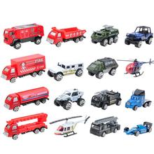 Peradix 16PCS Metal Car Mode Antique Collectible Toy Cars Airplane Helicopter Truck Collection Miniatures Scale Cars Models