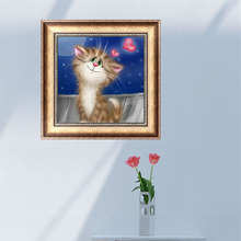5D Diamond Embroidery Cute Cat Painting Cross Stitch DIY Craft Mosaic Home Decor