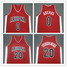 #0 Gilbert Arenas 20 Amar'e Stoudemire Arizona Wildcats Red white Basketball Jerseys Embroidery Stitched(China)