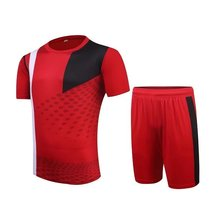 4 colors New Mens Football Soccer Jerseys Football Training Sets Breathable Jersey Customize logo name number Uniforms(China)