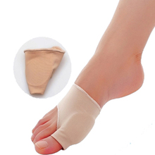 2pcs/pair Stretch Nylon Socks Hallux Valgus Guard Cushion Bunion Toe Separator Thumb Valgus Protector Pedicure Cyst Foot Care(China)