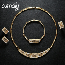OUMEILY Luxury Jewelry Sets Bridal African Jewelry Set For Women Fashion Costume Jewellery Necklace Indian Jewelry Set(China)