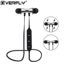 Buy Overfly Magnetic Bluetooth Earphone XT-11 Wireless Sports Headphones Stereo Bass Music Earpieces Mic Headset for $3.88 in AliExpress store