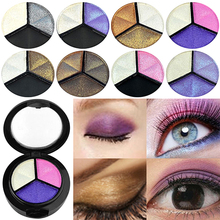 3 Colors Glitter Eyeshadow Smoky Cosmetic Eye Shadow Palette Set Natural Matte Eye Shadows Professional Eye Make Up Palette