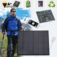 amzdeal Outdoor Portable USB Solar Power Panel Charger 6V 3.6W For Android Phone Mini Travelling DIY Solar Panel Power Supply(China)