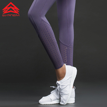 Syprem sports leggings Hollow Out Yoga Leggings High Waist Winter fitness leggings Girls Sports pants with side pocket,TK2517(China)