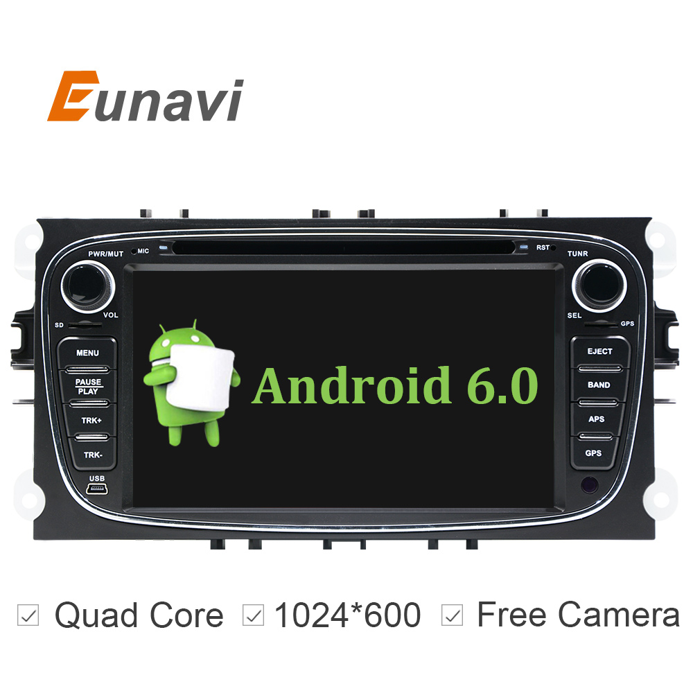 "2 Din 7"" Android 6.0 Car DVD Player Online Maps GPS Navigation WIFI for Ford focus II Galaxy Transit Tourneo Mondeo(China)"