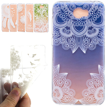 for Huawei Ascend Y6 II Compact Case Cover Hollow Lace flower Pattern Clear Soft Silicone Cell Phone Coque for Y5 II Y3 II skin