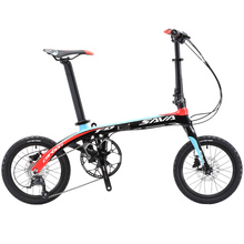 Folding Bike SAVA 16 inch Carbon Fiber Frame Children Mini City Foldable Bicycle with SHIMANO SORA 3000 9 Speed Group Set(China)