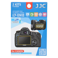 JJC LCP-5DM3II LCD Guard Film Screen Protector (2 Kits) for Canon 5D Mark III/5Ds/5DsR(China)