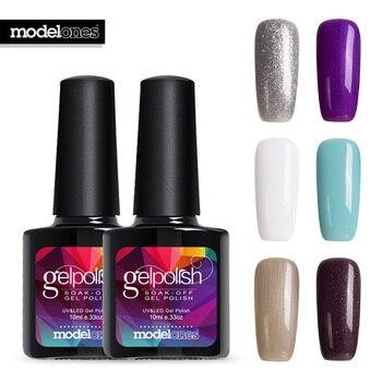 Modelones French Style Gel Polish Soak Off UV Nail Gel Lacquer Semi Permanent Led Nail Enamel Long Lasting UV Nail Gel Glue