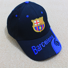 2017 New Football Barca Club Hat Baseball Cap Embroidery Snapback Cap Soccer Hat for Women and men Unisex Cotton Letter Caps