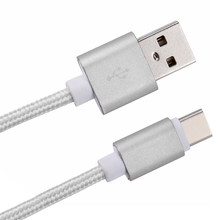 Reversible plug of type-c connect 20CM USB-C 3.1 Type C Male To USB 2.0 A Male Data Cable For Android Phone sliver