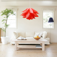 DIY Kit Lotus Pendant Light Modern IQ PP Lampshade Suspension Hanging Lamp For Holiday Living Room Bedroom Decor Lighting(China)