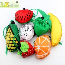 MIC 7 Styles Cute Useful Fruit Watermelon Pitaya Foldable Eco Reusable Shopping Bags 39cm x37cm GB015