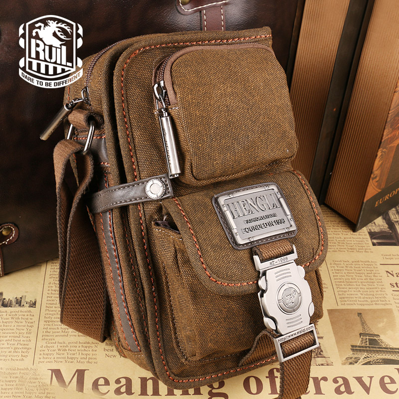 NEW  Sale! 2017 canvas versatile casual shoulder messenger bags for men retro travel bag free shipping<br>