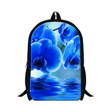 Dispalang beautiful floral pattern backpack cute blue flower leaves school bags for teen girls shoulder bag mochila 30 style