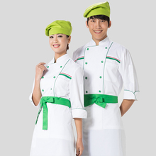 Hot Unisex Japanese Korea style medium sleeve chef cook uniform chef  work wear restaurant cook suit kitchen working wear