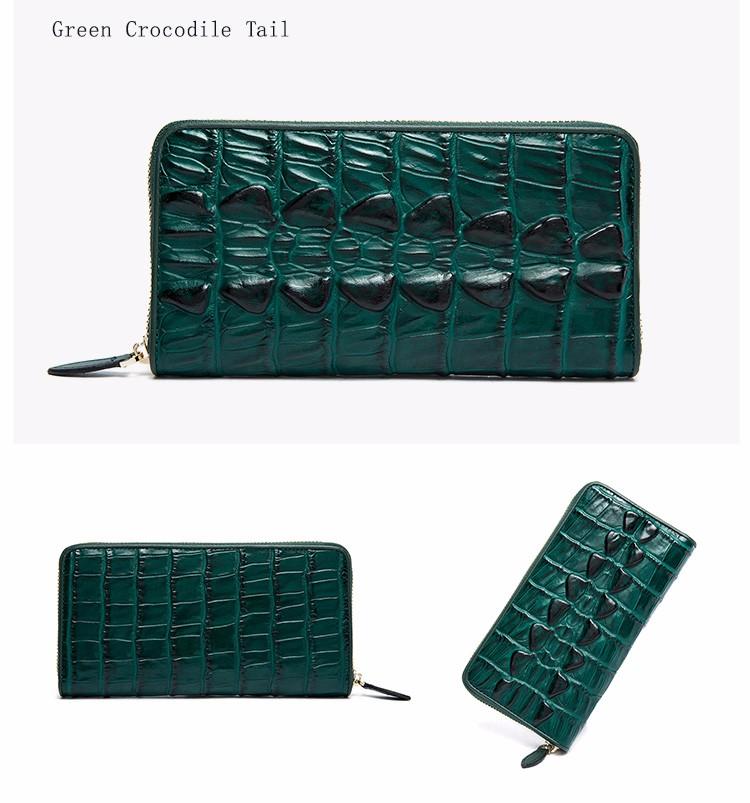 HTB1nmajOFXXXXaIXpXXq6xXFXXX8 - QIWANG SEXY Women Wallets Crocodile Head and Tail Wallet Purse for Women Split Leather Alligator Pattern Long Wallet Women
