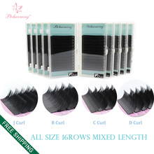 Fast Delivery&Free Express Mixed Length All Size 20pcs/lot 3D-6D Volume Mink Eyelash Extension, Individual Eyelash Extensions(China)