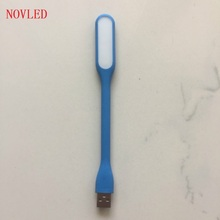 USB Led Book Lamp For Reading Lights Mini Chip Adjustable Lighting 8 Colors Available Creative LED Bed Desk Lights 90% off(China)