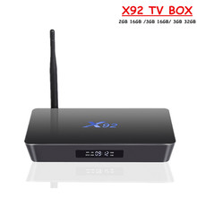 X92 Android TV Box Amlogic S912 Octa Core 3GB 32GB Android 6.0 BT4.0 Dual WiFi Set Top Box 4K 3D Media Player X92 Smart TV Box