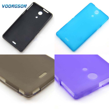 VOONGSON TPU Silicone Gel Case Cover For Sony Xperia ZR C5502 C5503 M36h Cell Phone Protective Cover Bags matte soft