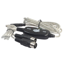 HOT-2m USB to MIDI Interface Converter Cable Cord PC to Music Keyboard Adapter Black