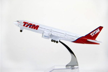 hot sell 16CM plane model 777 Brazil Airlines aircraft ATM B777 Metal simulation airplane model for kid toys Christmas gift