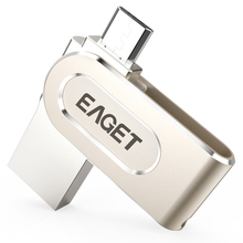 EAGET V88 Portable OTG USB 3.0 Fashion Design Highspeed Flash Drive 16GB 32GB 64GB External Storage USB stick For Android Tablet(China)
