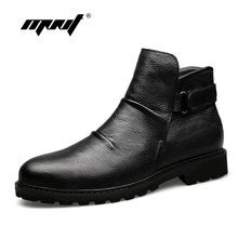 Buy Super Warm Winter Boots Genuine Leather Men Shoes Handmade Fur Ankle Men Boots Waterproof Autumn Winter Outdoor Footwear for $47.78 in AliExpress store