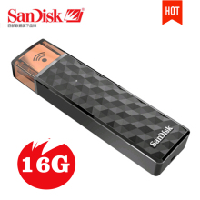 New SanDisk Connect Wireless Stick USB Flash Drive 16GB 16G Wi-Fi + USB 2.0 Pen Drives PenDrives Support official verification