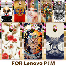 Phone Cases For Lenovo Vibe P1M p1ma40 P1mc50 5.0 inch Cover Protective Housing Bags Custom Painted Owl Cat Hard Plastic Back
