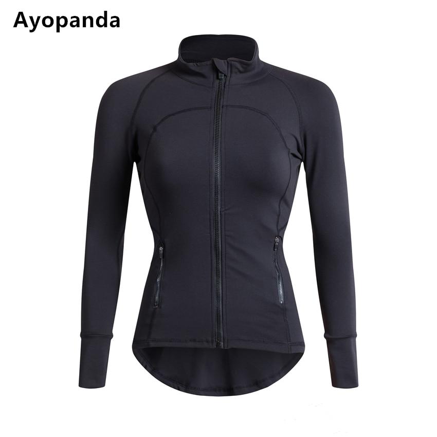 Cute Womens Workout Yoga Jacket Black/Grey Zipper Long Sleeve Sports Sweatshirts Top Yoga Dance Jacket Fitness Running Coat<br>