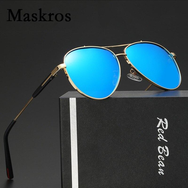 Maskros Pilot HD Polarized Mens Sunglasses Men Coating Mirror Uv400 Polarizing Sun Glasses for Male Driving Shades Man Flat Top<br><br>Aliexpress