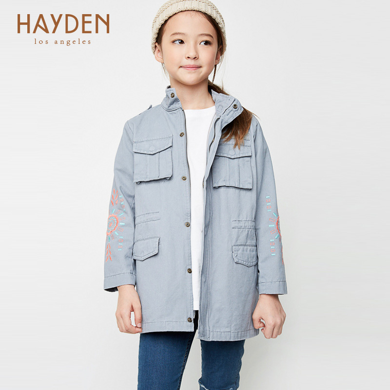 teenage girls jackets and outerwear coats autumn spring 7 9 12 years girls winter clothe cotton infant overcoat kids jean jacket<br>