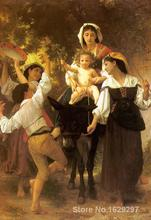 Return from the Harvest Paintings by William Adolphe Bouguereau impressionist art High quality Hand painted