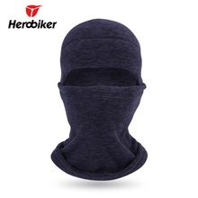 HEROBIKER Black Motorcycle Face Mask Thermal Fleece Cold-proof Balaclava Moto Mask Autumn Winter Cycling Skiing Mask Hat(China)
