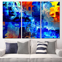 Unframed Time-limited 3 Panels Canvas Art Color Abstract Pattern Home Decor Wall Painting Prints Pictures For Living Room(China)