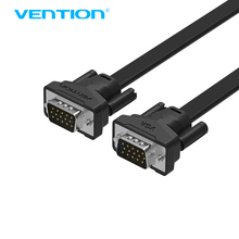 Vention VGA to VGA Flat Cable Male to Male Black Braided Shielding High Premium HDTV VGA Cable(China)