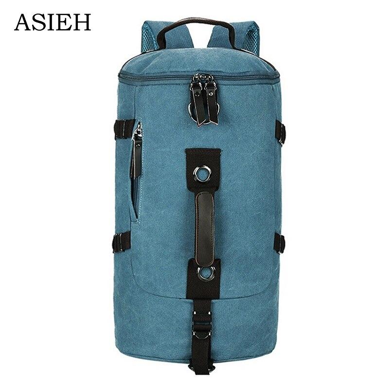 Stylish large capacity canvas Backpacks Mens  travel bag Durable canvas   backpack ASIEH2017 new shoulder bag Travel bag<br>