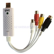 easycap uvc usb video capture adapter  for TV DVD VHS Hi8  work for MAC Linux  Windows  Free shipping
