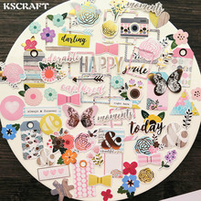 KSCRAFT 70pcs Always & Forever Colorful Cardstock Die Cuts for Scrapbooking Happy Planner/Card Making/Journaling Project