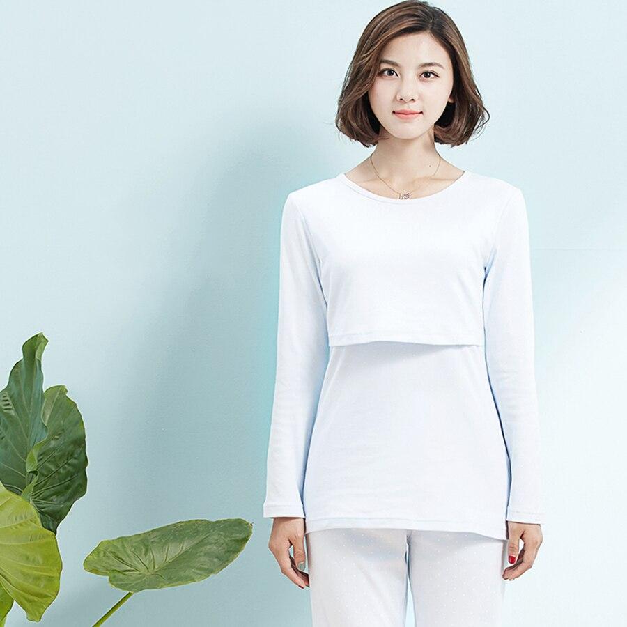 Maternity Nursing Pajamas For Pregnant Women Shirt Feeding Pijama Luxury Soft Cotton Maternity Nightwear Breastfeeding 70M0157<br><br>Aliexpress